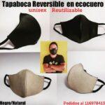 Kataleya- Tapaboca unisex reutilizable en ecocuero