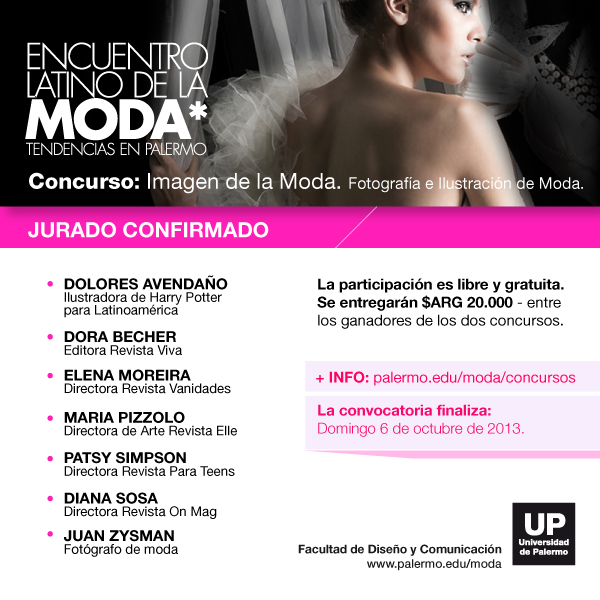 Flyer Jurado1 Concurso Imagen De La Moda 2013 - 1ª Edición