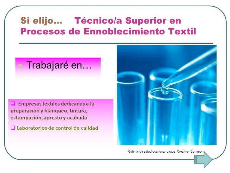 Ennoblecimiento1 Carrera De Técnico En Ennoblecimiento Textil - Productos Químicos Textiles
