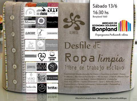 """Ropa Limpia """"Ropa Limpia"""" ,  Libre De Trabajo Esclavo"""