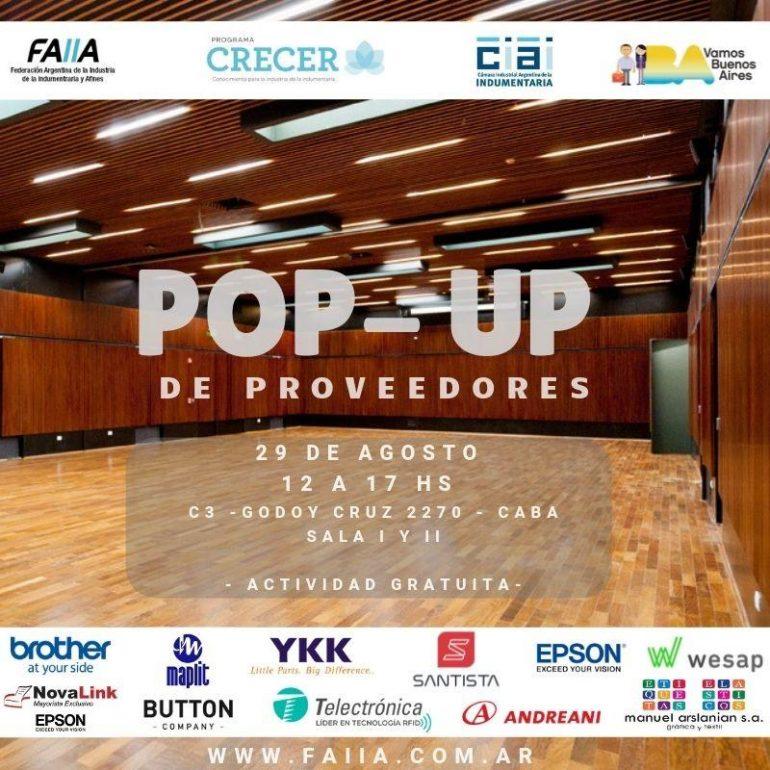 Pop Up Pop-Up De Proveedores Textiles