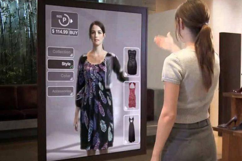 Tecnología Revoluciona Las Tiendas Lo Último En Moda Y Tecnología: Probador De Indumentaria Virtual - #Tiendas