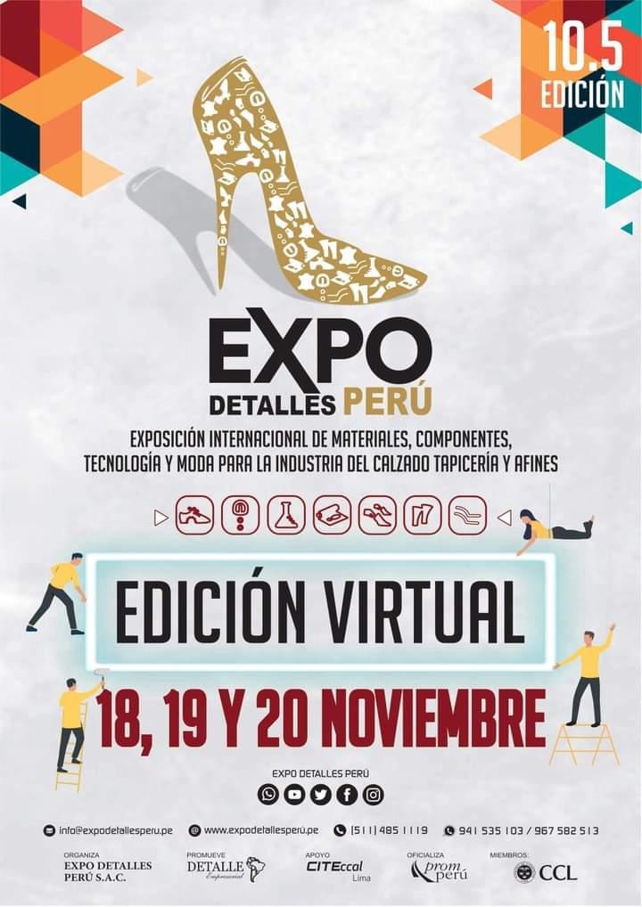 Fb Img 1603147689138 Proveedores Para El Calzado Y Cuero En Expodetalles Perú Virtual 2020 - Eventos Calzado, Cuero