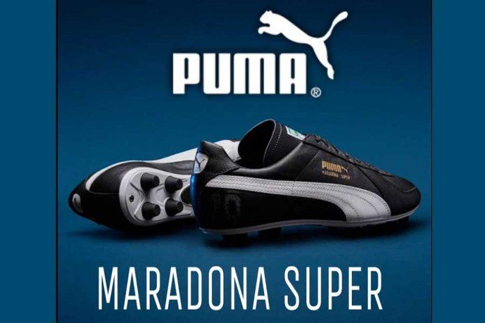 Puma Zapatos Maradona 696X464 1 El Adiós A Diego Maradona, El Astro Del Fútbol Argentino Que Supo Ser La Estrella De Puma - Empresas Calzado, Cuero