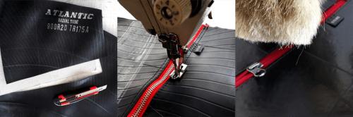 Etapa2 A Cámaras De Neumáticos Descartables Transformadas En Marroquinería - Moda Sostenible