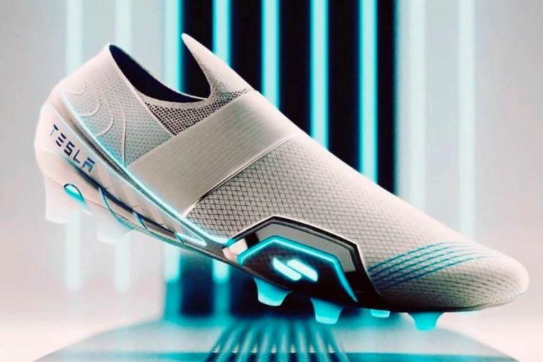 Zapatillas Tesla El Ex Diseñador De Nike Y Adidas Mostró Botines De Fútbol Tesla - Zapatillas