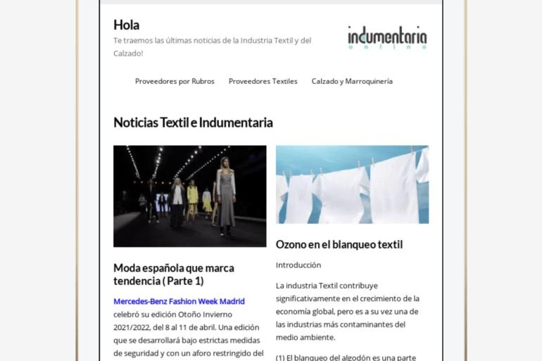 Newsletter Indumentariaonline-Novedades Del Sector Textil Y Calzado