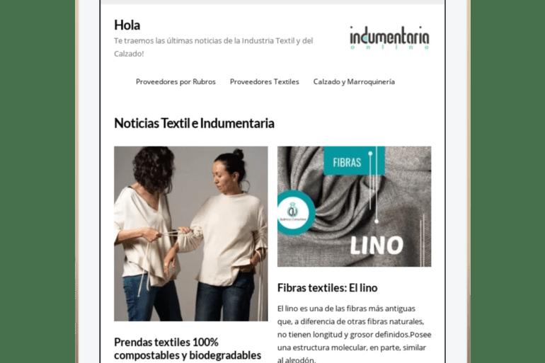 Newsletter Indumentariaonline, Novedades Del Sector Textil Y De Calzado
