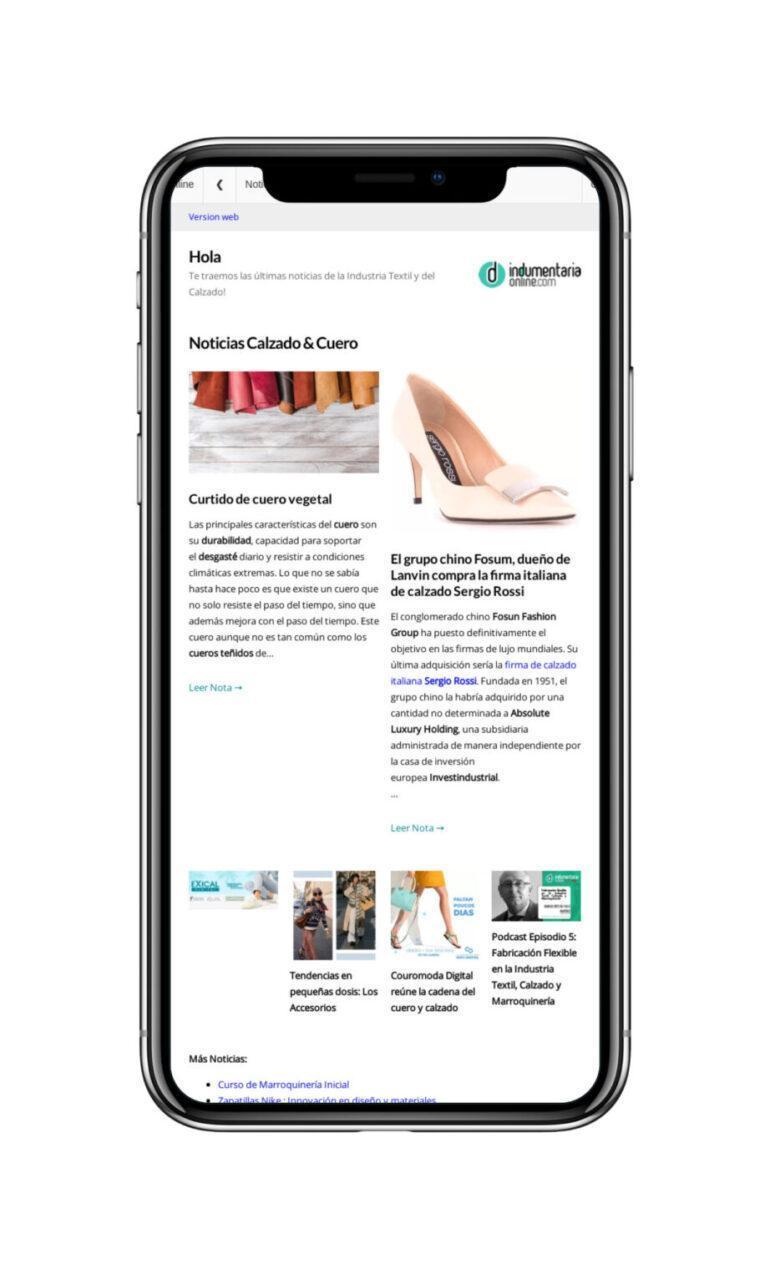 Newsletter Newsletter Indumentariaonline De Noticias Del Sector Textil Indumentaria Y Calzado - Noticias Breves