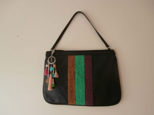 Cartera Elisa Color Negro 1 Producciones Limitadas Con Cueros De Alta Calidad - Moda Y Diseñadores Calzado, Cuero