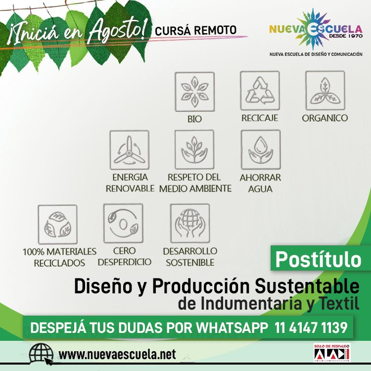 Diseno Y Produccion De Desarrollo Sustentable De Indumentaria Y Diseño Y Producción De Desarrollo Sustentable De Indumentaria Y Textil - Noticias Breves