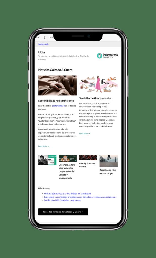 Indumentariaonline Com 800X1280Tablet 978320 Iphone X Newsletter Indumentaria Online Con Noticias De Textiles Indumentaria, Calzado Y Marroquineria - Noticias Breves