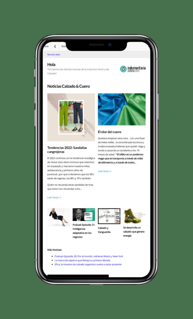 Indumentariaonline Com 800X1280Tablet Bae8Dc Iphone X Newsletter Indumentaria Online Con Noticias De Textiles Indumentaria, Calzado Y Marroquineria - Noticias Breves