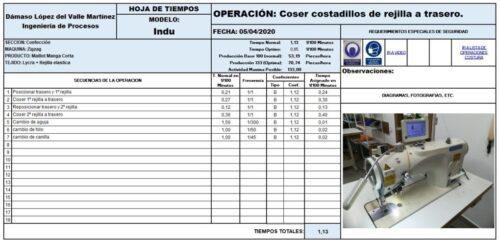 F1 Tiempos Manual O Maquina Herramienta Diferentes Tipos En Un Crono Análisis - Empresas Textiles