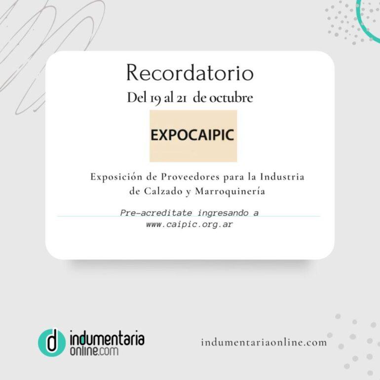 Recordatorio Expocaipic Recordatorio: Pre Acreditate En Expocaipic - Noticias Breves